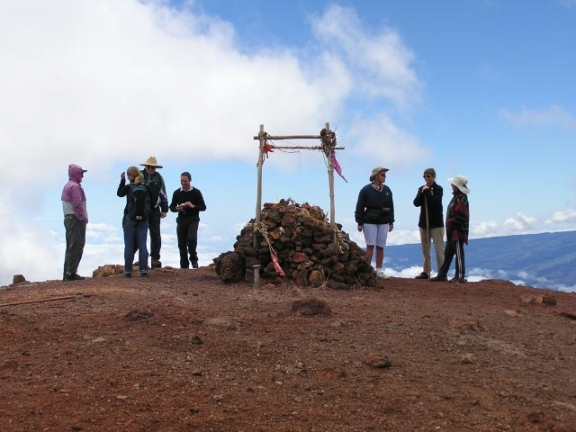 Kona Hiking Club at summit of Mauna Kea
